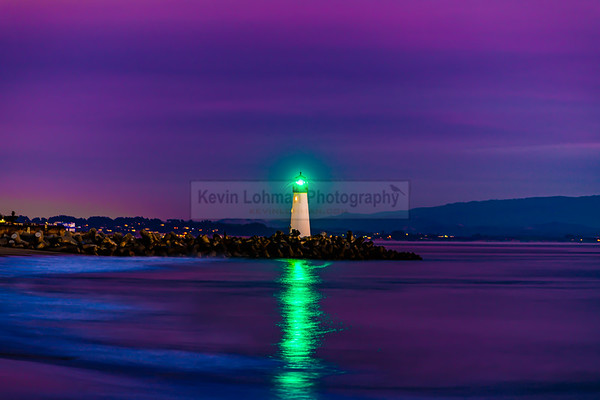 Walton Lighthouse, Santa Cruz Harbor (Purple Sky)