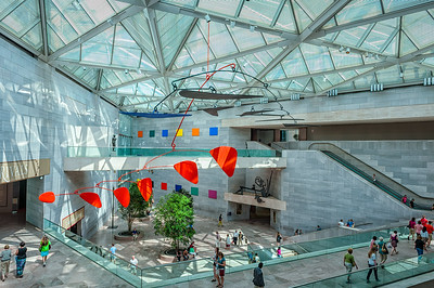 USA, Washington, DC: National Gallery of Art, East Wing, with Calder sculpture