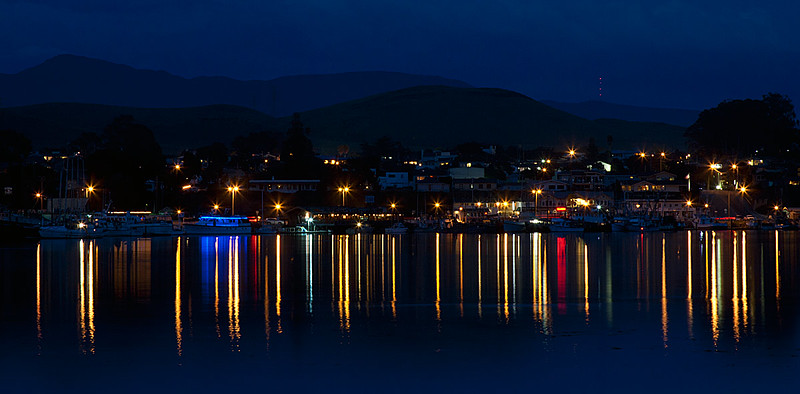 Night Lights Reflections