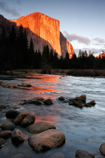 El Capitan and Merced River at Sunset, Yosemite NP<br /> (California, 2006)