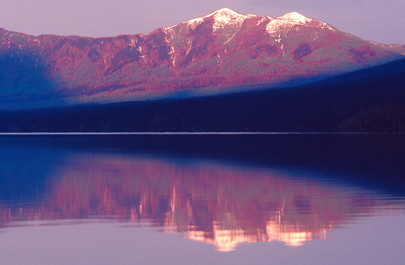 Lake McDonald Sunset Reflection, Glacier NP<br /> (Montana, 2004)