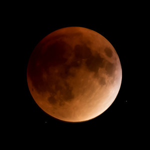 Moon-Total Eclipse and Supermoon-Shoreview MN-20150927-21:19