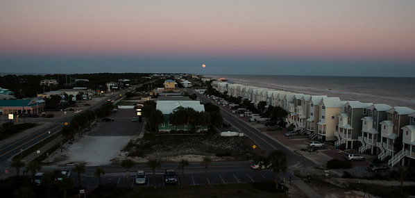 Full Moon Rise from top of St. George Island Lighthouse-01
