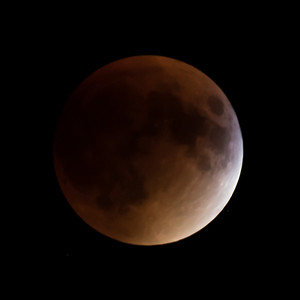 Moon-Total Eclipse and Supermoon-Shoreview MN-20150927-21:10