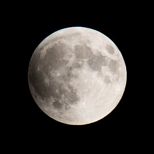 Moon-Total Eclipse and Supermoon-Shoreview MN-20150927-19:57