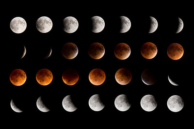 Moon-Total Eclipse and Supermoon-Shoreview MN-20150927
