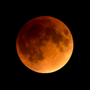 Moon-Total Eclipse and Supermoon-Shoreview MN-20150927-21:38