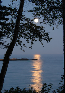 Full Moon Over Lake Superior - Little Marias, MN