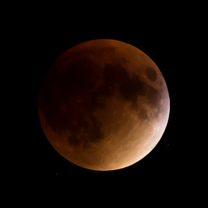 Moon-Total Eclipse and Supermoon-Shoreview MN-20150927-21:15