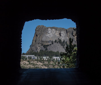 Mt Rushmore View Through Robinson Tunnel