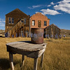 "The town of Bodie, California grew from a gold discovery in the early 1860s. Once populated by 10,000 hardy souls (winters are harsh at 9,000 feet), Bodie is now the best preserved ghost town in California. Now part of the California State Parks system, it is preserved in a state of ""arrested decay""."