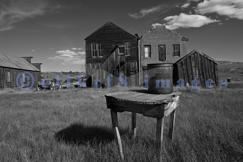 """The town of Bodie, California grew from a gold discovery in the early 1860s. Once populated by 10,000 hardy souls (winters are harsh at 9,000 feet), Bodie is now the best preserved ghost town in California. Now part of the California State Parks system, it is preserved in a state of """"arrested decay""""."""