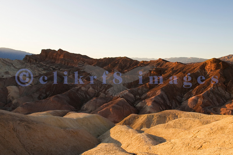 Zabriskie Point after sunset catching the remarkable geology of this amazing national park known as Death Valley.