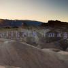 Zabriskie Point as the sun sets.