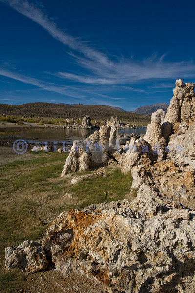 Mono Lake at South Tufa area in early morning light. This lake almost wasn't. Los Angeles bought up water rights to 5 creeks that feed the lake, lowering the water level and raising the salinity. A lawsuit in the 1980s challenged L.A. and won, thus decreeing that the lake levels shall be raised.