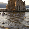 Mono Lake at South Tufa area in late afternoon light. This lake almost wasn't. Los Angeles bought up water rights to 5 creeks that feed the lake, lowering the water level and raising the salinity. A lawsuit in the 1980s challenged L.A. and won, thus decreeing that the lake levels shall be raised.