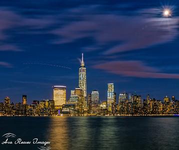 Full Moon Over New York City