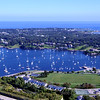 Newport Harbor with Fort Adams (extreme bottom left) and Navy Housing circling football/rugby field