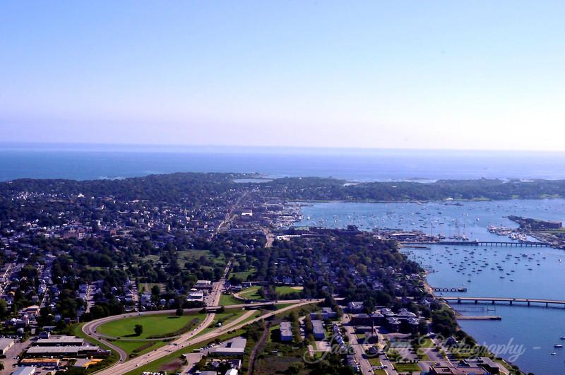 Newport Harbor in distance