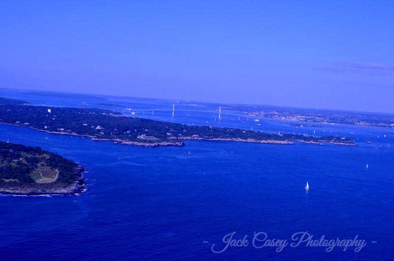 Southern Jamestown with Newport Bridge in distance