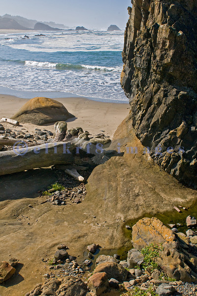 Seal Rock State Recreation Area provided many photo opportunities from huge rocks to crashing waves to a sandy beach. We were lucky to be on Oregon's Central Coast during a sunny week after Labor Day.