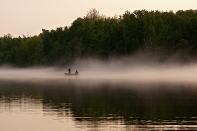 Fishing in the fog - Dunning Lake - Itasca County, MN