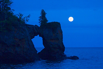 Full Moon over Rock Arch  - Tettegouche State Park - MN