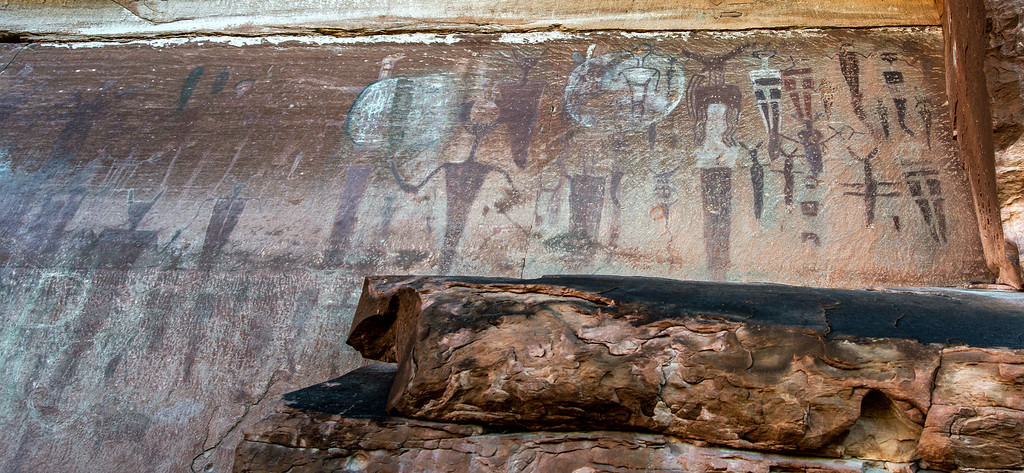 Courthouse wash pictograph panel