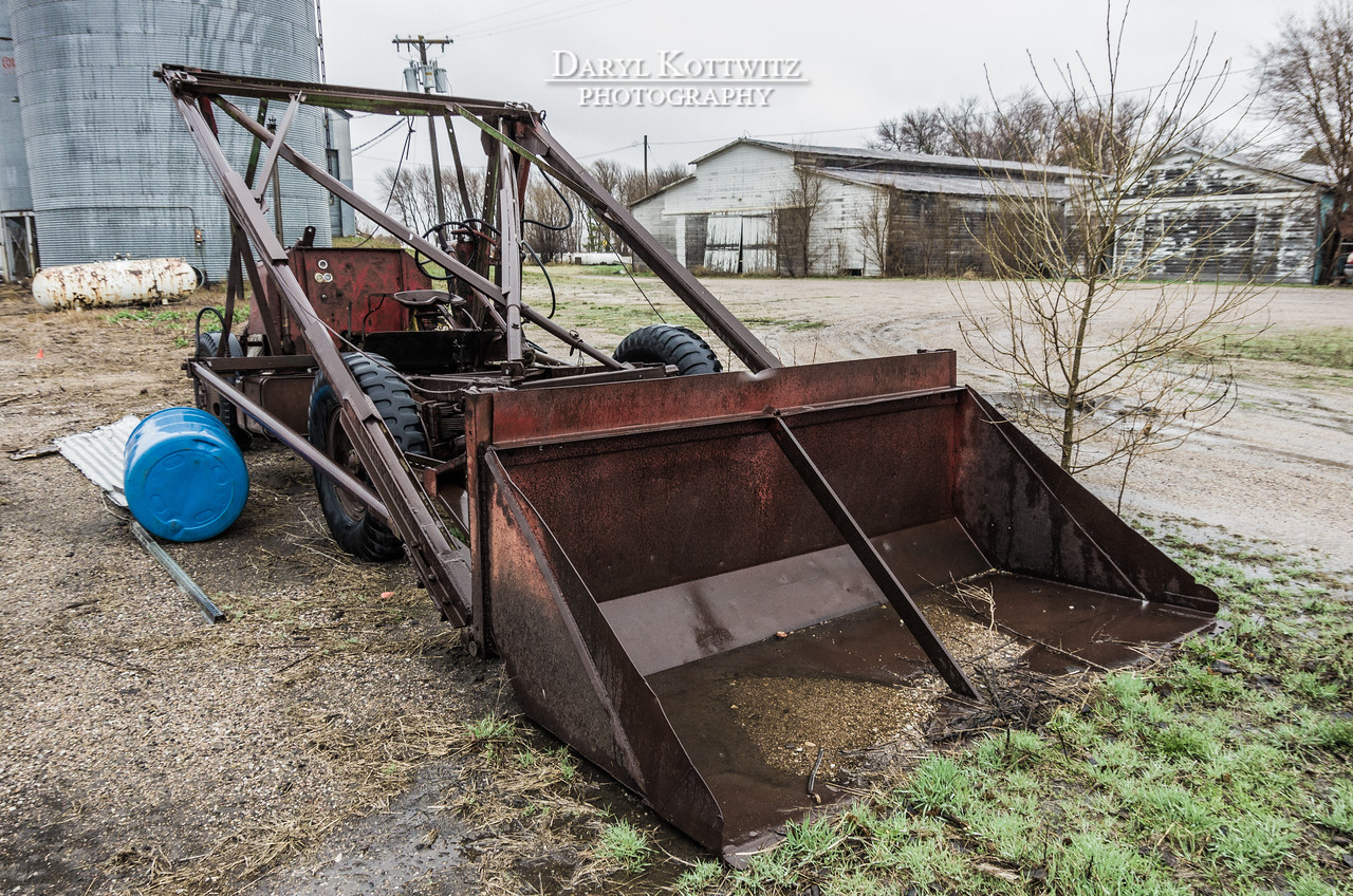 """Engineering Marvel"" - a home made bucket loader.  Shot in Ames, NE."