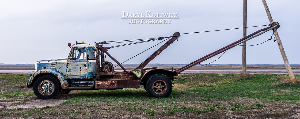 """Tow Truck Panorama"" -  - Shot in Rogers, NE."