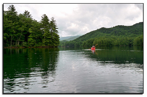 Paddling Lake Santeetlah in NC