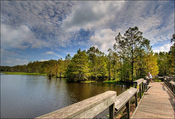 Fishing at Lake Miccosukee, Jefferson County, Florida