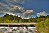 Lake Miccosukee rushes under Highway 90, Jefferson County, Florida