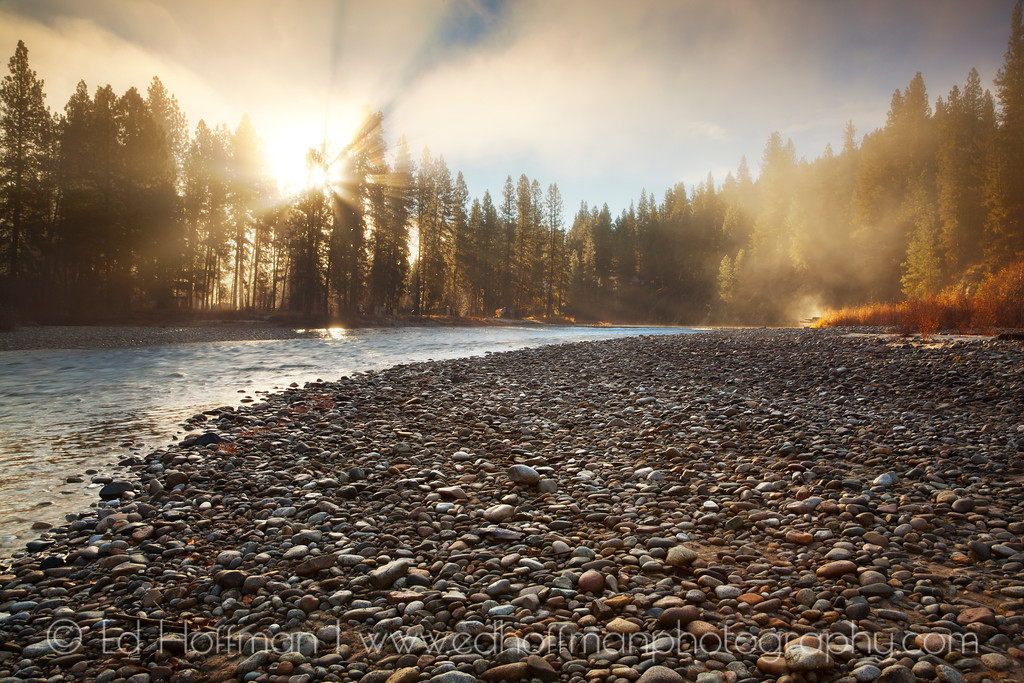 Steam rising on the Payette River