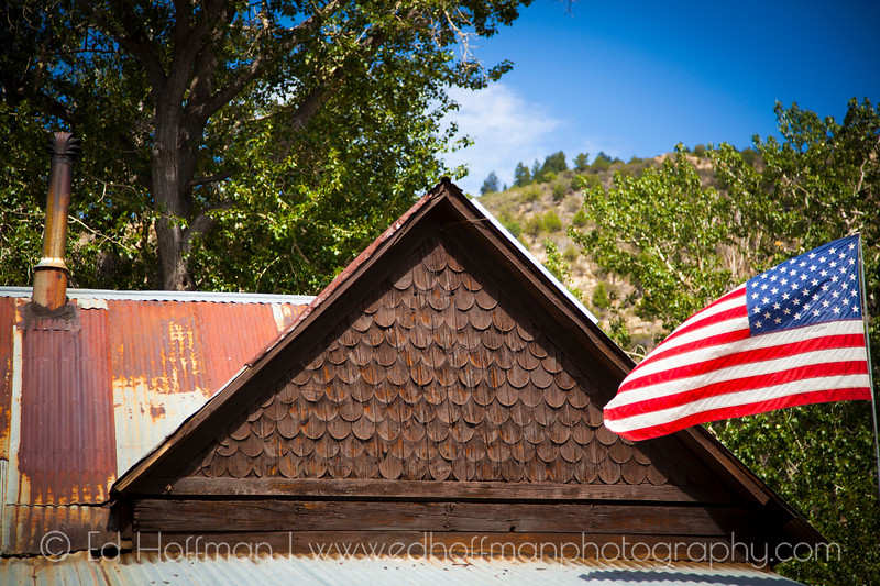 Roof top and flag