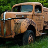 My work has required me to travel quite a bit in Iowa.  One afternoon following a meeting, I was headed from Waterloo to Clinton and chose to take some less traveled highways.  In a small town south and east of Cedar Rapids I came across this abandoned truck parked on a lot near the highway.  I had the time, so had to stop to grab several shots.  I haven't been able to decide which I like better, this one or the other shot of this truck also posted here.  I think today, I lean more toward the other shot...but tomorrow, who knows?