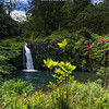 This is one of the many easily accessible waterfalls on the north coast of East Maui.