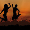 <b>Title - Jump for Joy on Berm at Sunset</b> Honorable Mention <i>- Meg Puente</i>