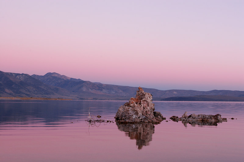 Lone Tufa At Sunrise, Mono Lake<br /> (California, 2005)