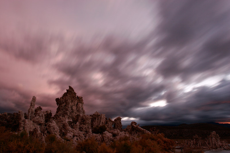 Clouds Streaking at Twilight, Mono Lake<br /> (California, 2005)
