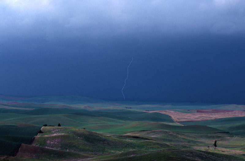 Distant Storm and Lightning, The Palouse<br /> (Washington, 2004)