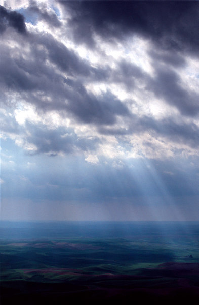 Crepuscular Rays, The Palouse<br /> (Washington, 2004)