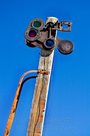 Death Valley railroad signal