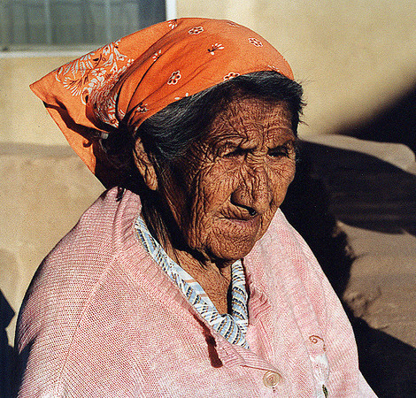 Native American woman who sold us a pot.  New Mexico