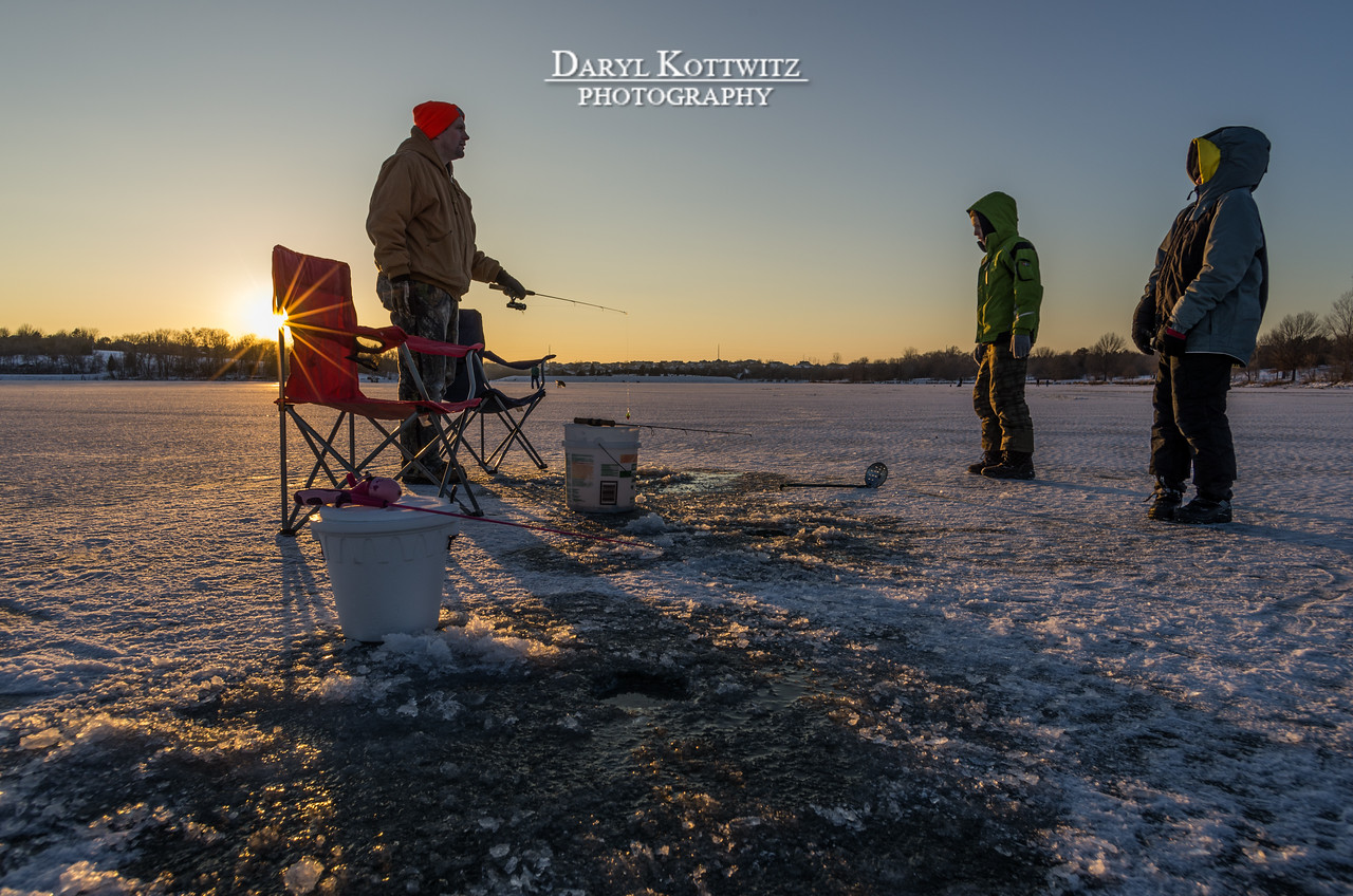 I found this family ice fishing.  They were kind enough to say it was okay for me to shoot some pictures.