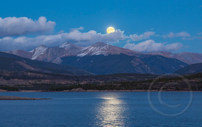 Supermoon Over Grays Peak