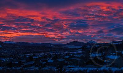 Surreal Sunrise Over Silverthorne