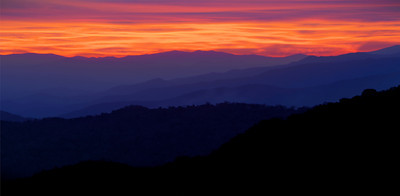 Great Smoky Mountains National Park at sunset
