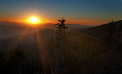 Sunset at Clingman's Dome, Great Smoky Mountains National Park