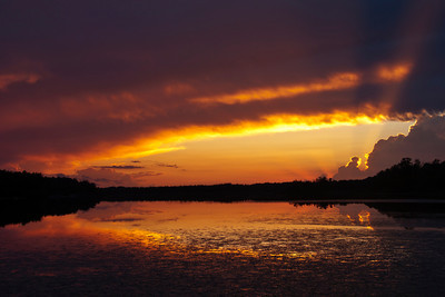 Sunset - Cross Lake - Carlton County,-MN